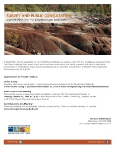CHELTENHAM BADLANDS PUBLIC CONSULTATION 13-Oct-2015